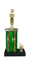 1st - 5th Place Moonbeam Riser Female Graduate Trophy in 11 Color Options