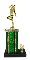 1st - 5th Place Moonbeam Riser Tap Dance Trophy in 11 Color Options
