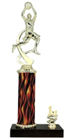 1st - 5th Place Flame Column Boys Basketball Trophy in 3 Sizes
