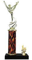 1st - 5th Place Flame Column Dance Trophy in 3 Sizes