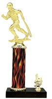 Male Baseball Trophy 1st 2nd 3rd Place on marble base in (3 - Sizes)