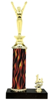 1st - 5th Place Flame Riser Male Gymnastics Trophy in 5 Color Options