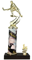1st - 5th Place Sport Column Riser Female Hockey Trophy in 3 Sizes