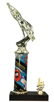 1st - 5th Place Sport Column Riser Male Swimming Trophy in 3 Sizes