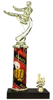 1st - 5th Place Sport Column Riser Male Karate Trophy in 3 Sizes