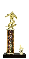 1st - 5th Place Moonbeam Riser Snow Boarding Trophy in 5 Color Options