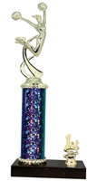 1st - 5th Place STARBURST Cheerleading Trophy in 3 Sizes & in 5 Colors