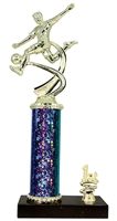 1st - 5th Place STARBURST Male Soccer Trophy in 3 Sizes & in 5 Colors