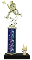 1st - 5th Place STARBURST Male Lacrosse Trophy in 3 Sizes & in 5 Colors