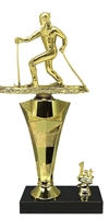 1st - 5th Place Star Riser Cross Country Ski Trophy in 3 Sizes