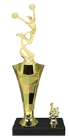 1st - 5th Place Star Riser Cheerleading Trophy in 3 Sizes