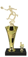 1st - 5th Place Star Riser Male Tennis Trophy in 3 Sizes