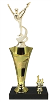 1st - 5th Place Star Riser Dance Trophy in 3 Sizes