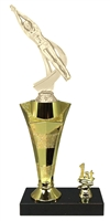 1st - 5th Place Star Riser Male Swimming Trophy in 3 Sizes