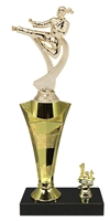 1st - 5th Place Star Riser Female Karate Trophy in 3 Sizes