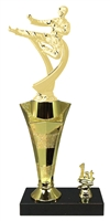 1st - 5th Place Star Riser Male Karate Trophy in 3 Sizes
