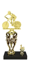 1st - 5th Place Torch Riser Male Cycling Trophy in 3 Sizes