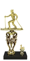 1st - 5th Place Torch Riser Cross Country Ski Trophy in 3 Sizes
