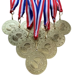 "10 pack of 2"" Express Series Football Medal 10pk-DSS013"
