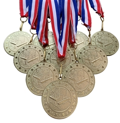 "10 pack of 2"" Express Series Gymnastics Medal 10pk-DSS014"