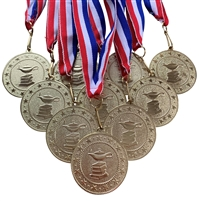 "10 pack of 2"" Express Series Scholastic Medal 10pk-DSS018"