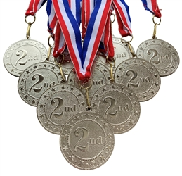 "10 pack of 2"" Express Series 2nd Place Medal 10pk-DSS02"