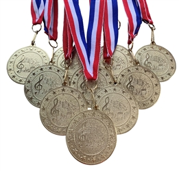 "10 pack of 2"" Express Series Music Medals 10pk-DSS020"