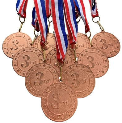 "10 pack of 2"" Express Series 3rd Place Medal 10pk-DSS03"