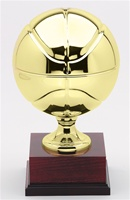 "15"" Tall Metal Basketball Trophy"