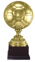 "16-1/2"" Tall Metal Soccer Trophy"