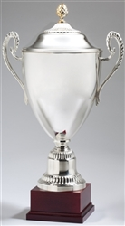 Large Silver Plated Italian Trophy Cup