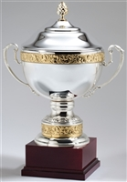 Silver Plated Italian Trophy Cup with Lid