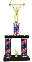 2 Column Flag PLUS Weightlifter Trophy