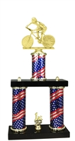 2 Column Flag PLUS Male Cycling Trophy