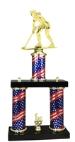 2 Column Flag PLUS Female Field Hockey Trophy