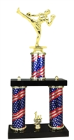 2 Column Flag PLUS Male Kick Boxing Trophy