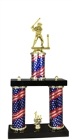 2 Column Flag PLUS Female T-Ball Trophy
