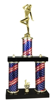 2 Column Flag PLUS Tap Dance Trophy
