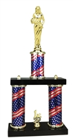 2 Column Flag PLUS Beauty Queen Trophy