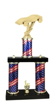 2 Column Flag PLUS Pinewood Derby Trophy