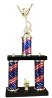 2 Column Flag PLUS Dance Squad Trophy