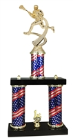 2 Column Flag PLUS Male Lacrosse Trophy