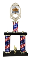 2 Column Flag PLUS Cheerleader Trophy