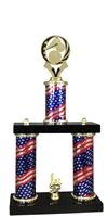 2 Column Flag PLUS Cheerleading Trophy