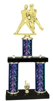 2 Column Starburst PLUS Female Judo Trophy in 5 Colors