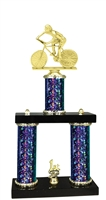 2 Column Starburst PLUS Male Cycling Trophy in 5 Colors