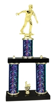 2 Column Starburst PLUS Male Horseshoe Trophy in 5 Colors