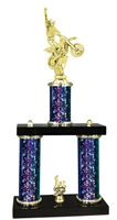 2 Column Starburst PLUS Motocross Trophy in 5 Colors