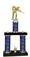 2 Column Starburst PLUS Male Billiards Trophy in 5 Colors