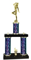 2 Column Starburst PLUS Tap Dance Trophy in 5 Colors